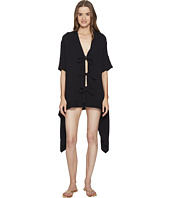 Jonathan Simkhai - Mesh Tie-Front Caftan Cover-Up