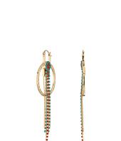 Steve Madden - Ring Bead Chain Fringe Dangle Earrings