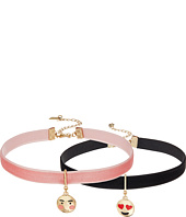 Steve Madden - 2 Piece Emoji Choker Necklace Set