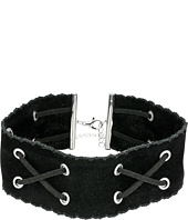 Steve Madden - Velvet and Suede Crisscross Choker Necklace