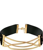 Steve Madden - Straps Crisscross Snake Chain Choker Necklace