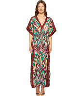 M Missoni - Retro Zigzag Cotton Voile Long Cover-Up