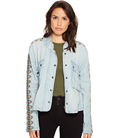 Free People - Embroidered Chambray Jacket