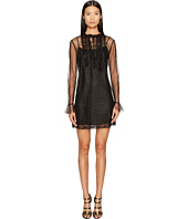 Sonia Rykiel - Short Sleeve Plumetis Dress with Frills