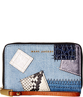 Marc Jacobs - Denim Patchwork Zip Phone Wristlet