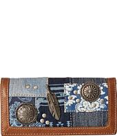 American West - Indigo Flap Wallet