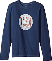 Life is Good Kids - Vintage Baseball Long Sleeve Crusher Tee (Little Kids/Big Kids)