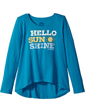 Life is Good Kids - Hello Sunshine Long Sleeve Scoop Neck Swing Tee (Little Kids/Big Kids)