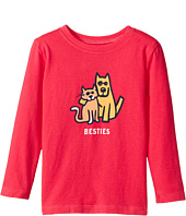 Life is Good Kids - Besties Cat And Dog Long Sleeve Crusher Tee (Toddler)