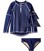 Toobydoo - Navy White Dot Rashguard Set (Infant/Toddler/Little Kids/Big Kids)