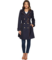 LAUREN Ralph Lauren - Trench w/ Faux Leather Piping