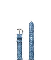 Michele - 16mm Seamist Fish Skin Strap Blue