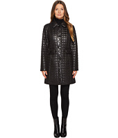 Kate Spade New York - Button Front Quilted Bow Back Jacket