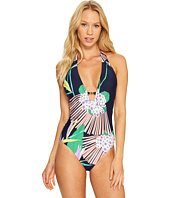 Trina Turk - Midnight Paradise V-Plunge One-Piece