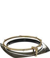 Alexis Bittar - Geometric Linked Bangle Set with Satellite Crystal Detail Bracelet