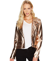 Blank NYC - Metallic Moto Jacket in Rose Gold