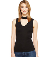 Michael Stars - Shine V-Neck Choker Tank Top