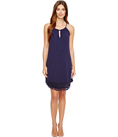 Michael Stars - Halter Dress w/ Fringe Trim