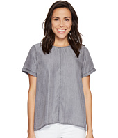 TWO by Vince Camuto - Short Sleeve Tencel Splitback Blouse