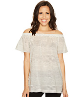 TWO by Vince Camuto - Off the Shoulder Delicate Etching Side Slit Tunic