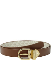 MICHAEL Michael Kors - 25mm Reversible Smooth to Logo Belt