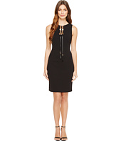 Tahari by ASL - Lace-Up Sleeveless Sheath Dress