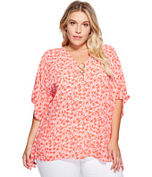 MICHAEL Michael Kors - Plus Size Lydia Ring Flutter Top