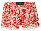 Red & White Pom Pom Shorts (Toddler/Little Kids/Big Kids)