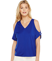 Ellen Tracy - V-Neck Cold Shoulder Top