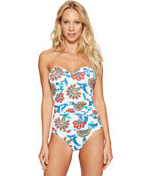 Tommy Bahama - Fira Floral V-Front Bandeau One-Piece Swimsuit