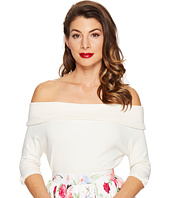 Unique Vintage - Off Shoulder Stretch Knit Brigitte Top