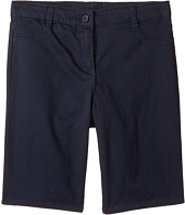 Nautica Kids - Girls Plus Five-Pocket Sateen Bermuda Shorts (Big Kids)