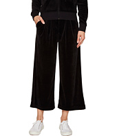 Juicy Couture - Lightweight Velour Cropped Wide Leg Trousers