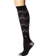 Zensah - Fresh Legs Chevron Argyle Compression Socks