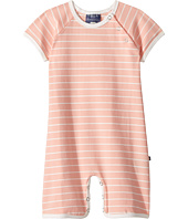 Toobydoo - Peach & White Pinstripe Shortie Jumpsuit (Infant)