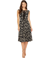 Christin Michaels - Maud Sleeveless Floral Dress with Lace Inset