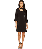 Christin Michaels - Tatum Bell Sleeve Dress with Keyhole