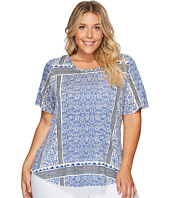 Lucky Brand - Plus Size Triangle Striped Tee