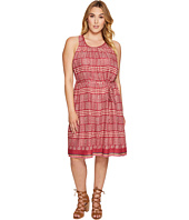 Lucky Brand - Plus Size Jacquard Border Print Dress