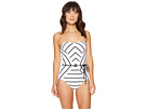 Castaway Stripe Bandeau Maillot One-Piece