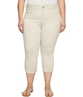 NYDJ Plus Size - Plus Size Dayla Wide Cuff Capris in Clay