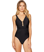 Athena - Cabana Solids Bianca Twist Front One-Piece