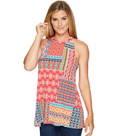 Roper - 0978 Floral Aztec Patch Print Tank Top