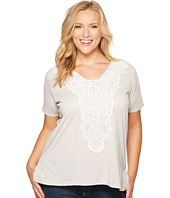 Roper - Plus Size 1105 Heather Jersey Stair Step Tunic