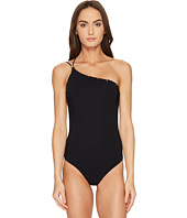 Versace - Intero One Shoulder Stud Trimmed Maillot One-Piece