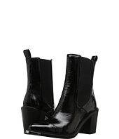 BELSTAFF - Aviland Crackled Patent Leather Ankle Boots
