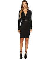 Just Cavalli - Jersey Twist Front Long Sleeve Dress