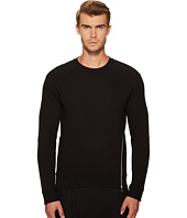 McQ - Twisted Zip Crew Neck Sweatshirt