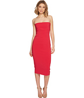 Nicole Miller - Heavy Techy Crepe Strapless Tie Back Dress