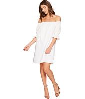 1.STATE - Off Shoulder Smocked Sleeve Shift Dress